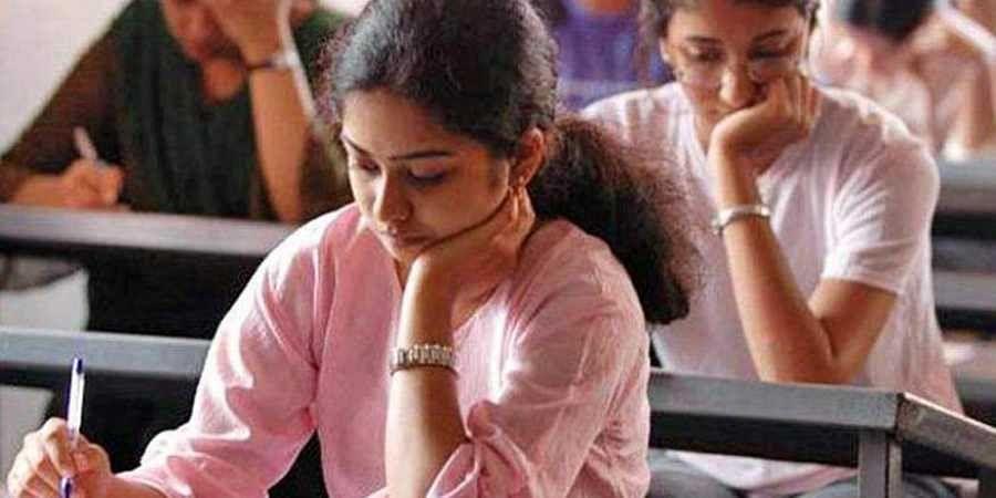 Students exam hall examination