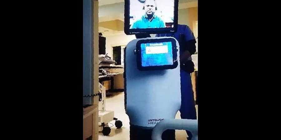 Patient, 78, told he is going to die by robot videolink