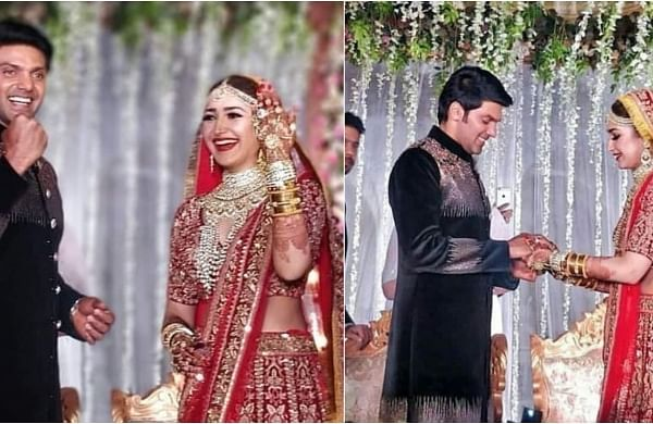 See Pics Arya And Sayyeshaa Get Married In Hyderabad Actors Suriya Rana Daggubati Others Attend The New Indian Express