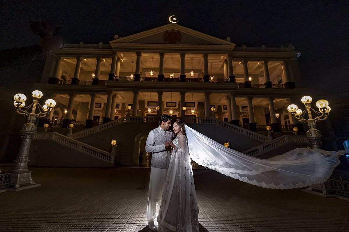 The couple had also hosted a pre-wedding reception and were twinning in white Indian ensembles at the do.