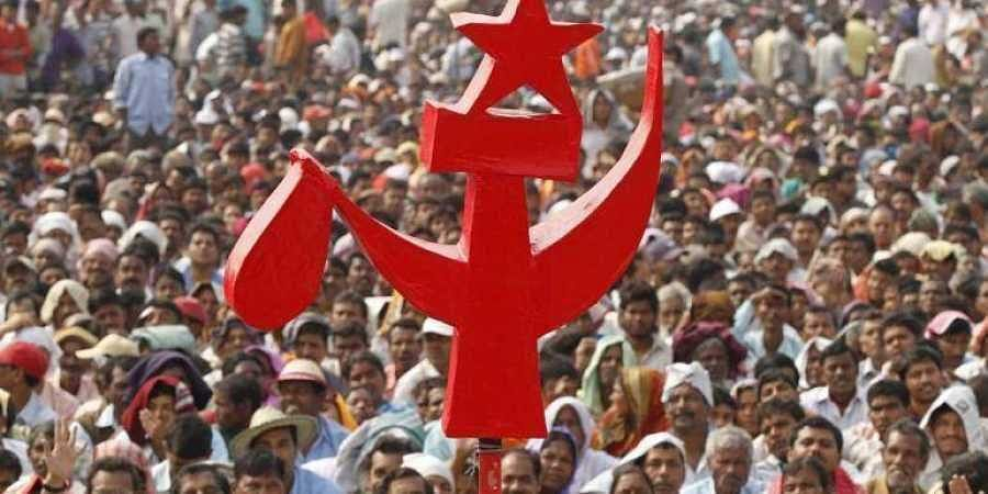 The CPI-M flag, used for representational purpose only.