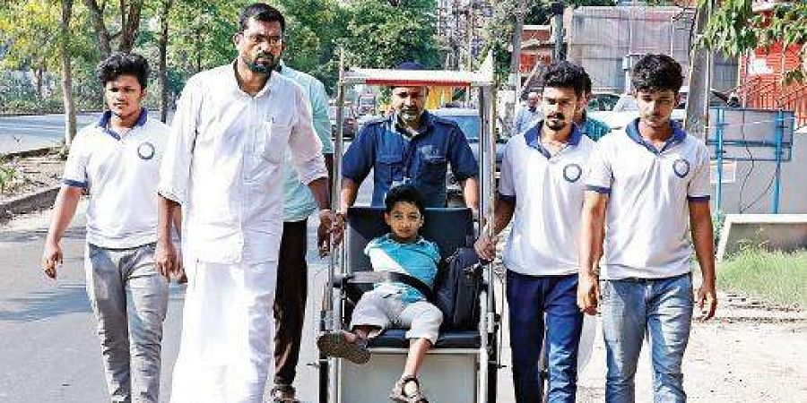 Mohammed Asim in Kochi during his journey.
