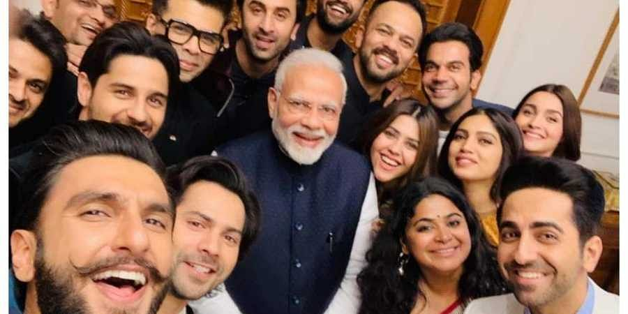 Prime Minister with Bollywood actors and directors. (Photo | File)
