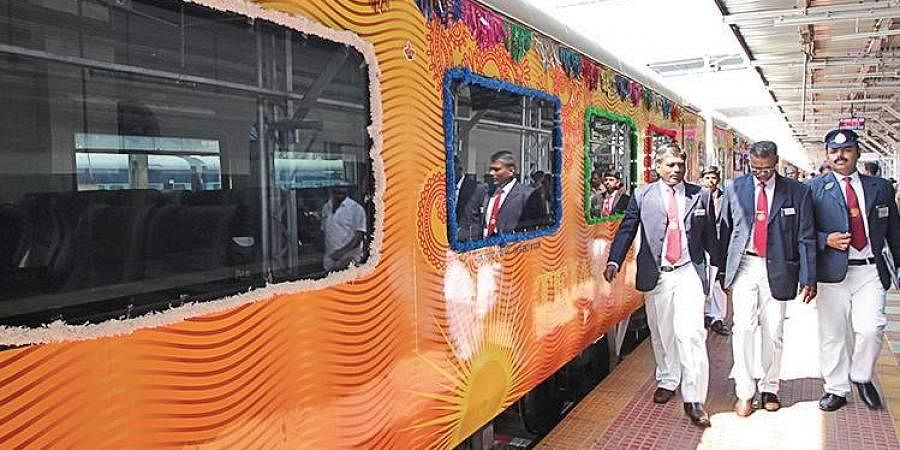Chennai-Madurai Tejas Express that was inaugurated recently.