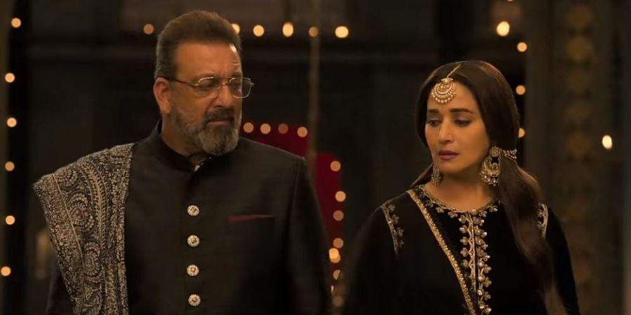 Sanjay Dutt and Madhuri Dixit in Kalank.