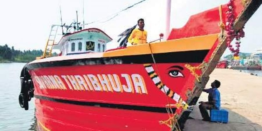 A file photo of the missing boat Suvarna Thribhuja.