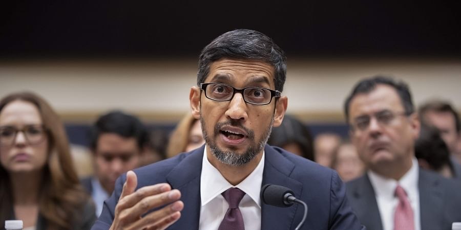 Google CEO Sundar Pichai appears before the House Judiciary Committee to be questioned about the internet giant's privacy security and data collection, on Capitol Hill in Washington, on 11 December 2018. (Photo | AP)