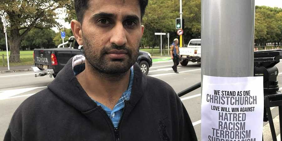 Yasir Amin, 35-year-old, describes his run-in with the gunman in Friday's mass shootings Saturday, March 16, 2019, in Christchurch, New Zealand. (Photo | AP)