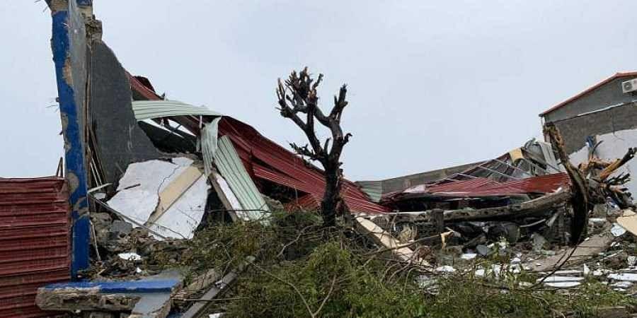 Beira house damaged