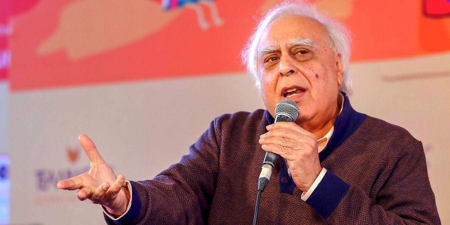 Congress leader Kapil Sibal