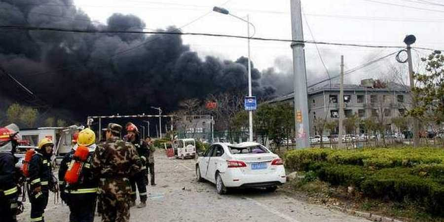 At least 47 dead in explosion at China pesticide plant
