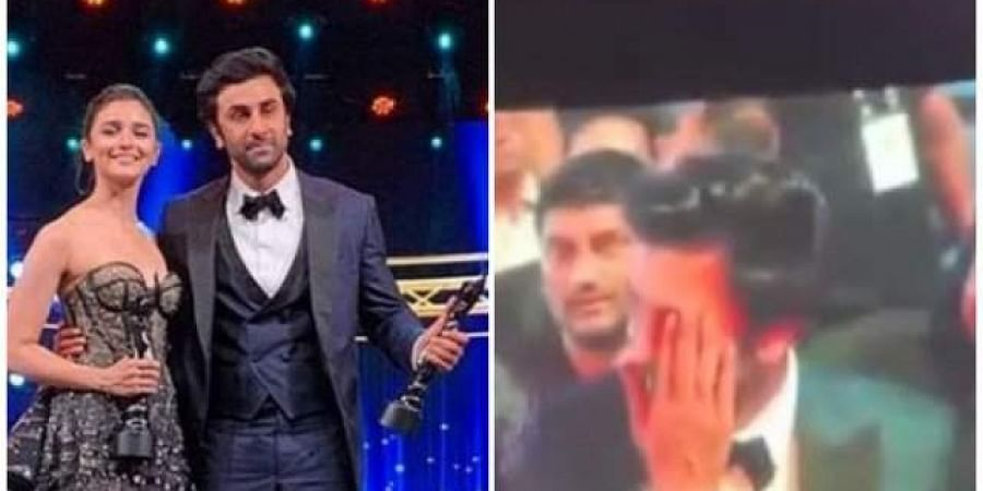 Alia Bhatt and Ranbir expressed their love at the Filmfare Awards ceremony on 23 March 2019 where they picked up the awards for Best Actor and Best Actress. (Photo | Twitter)