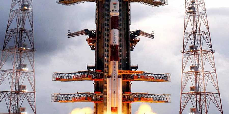 Chandrayaan-1 taking off at the Satish Dhawan Space Centre in Sriharikota (File Photo | AP)