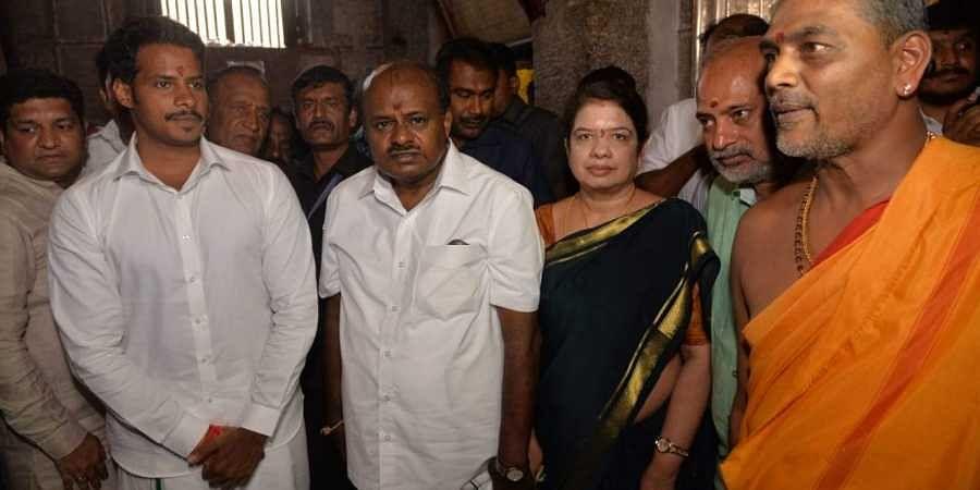 H D Kumaraswamy, Nikhil Kumaraswamy