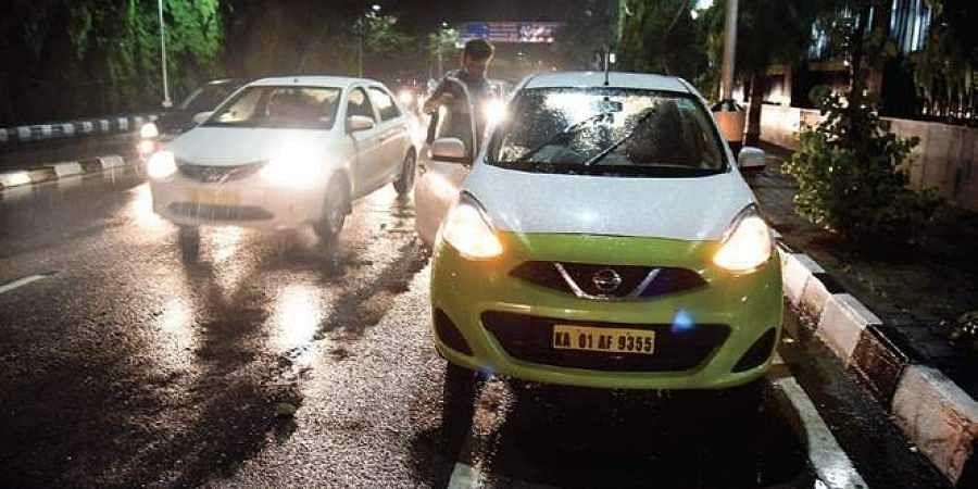 An Ola cab in Bengaluru