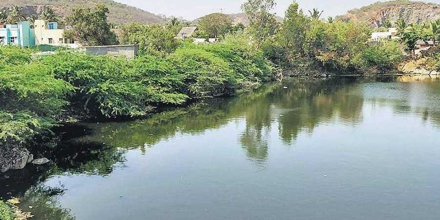One of the quarry pits near Tirusulam, the Pallavaram Municipality is planning to extract water from