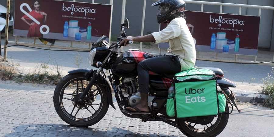 An online food delivery boy in Kochi