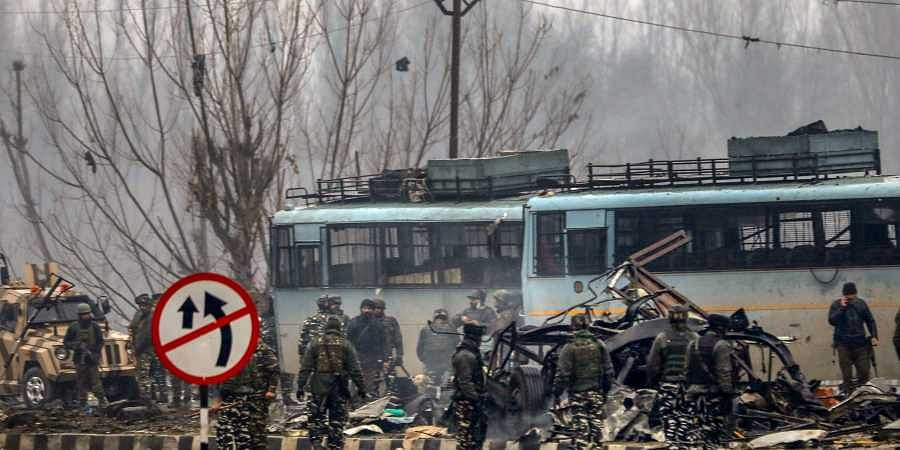 Pulwama suicide bomb attack site