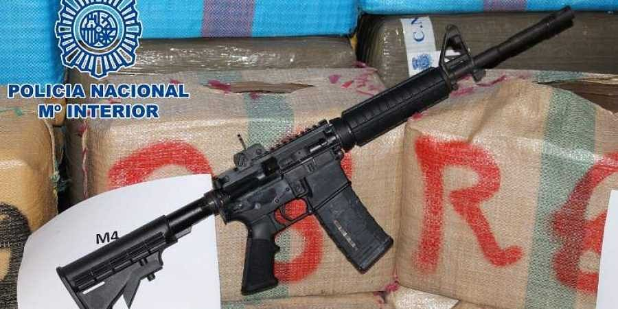 A M4 assault rifle