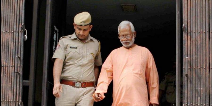 Panchkula Swami Aseemanand after a special court acquitted him along with three others in the Samjhauta train blast case Panchkula.