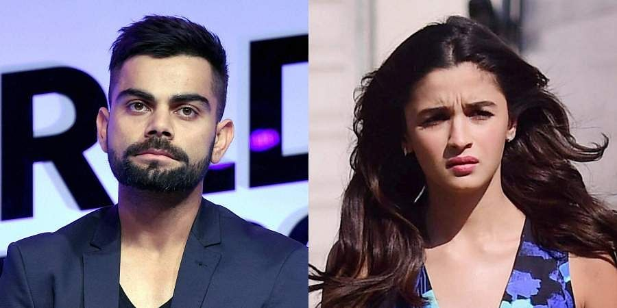 Indian cricket team captain Virat Kohli and Bollywood actor Alia Bhatt