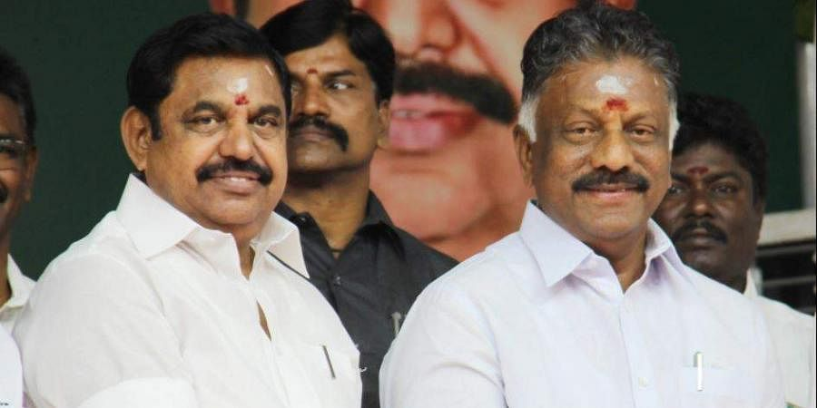 TN Chief Minister Edappadi K Palaniswami and Deputy Chief Minister O Panneerselvam.