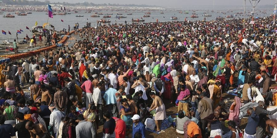 An estimated one crore devotees are expected to bathe on the auspicious day of Mahashivratri.