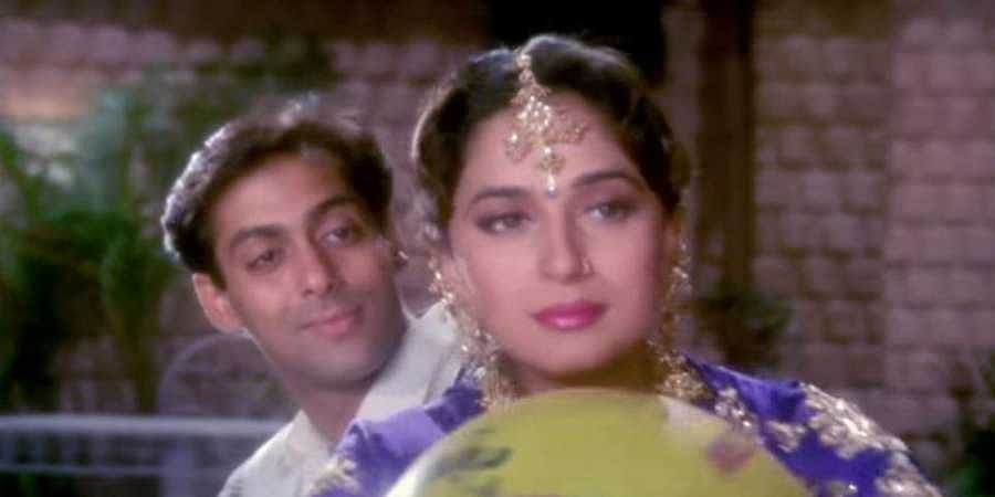 Salman Khan and Madhuri Dixit in Hum Aapke Hai Kaun. (YouTube screengrab)