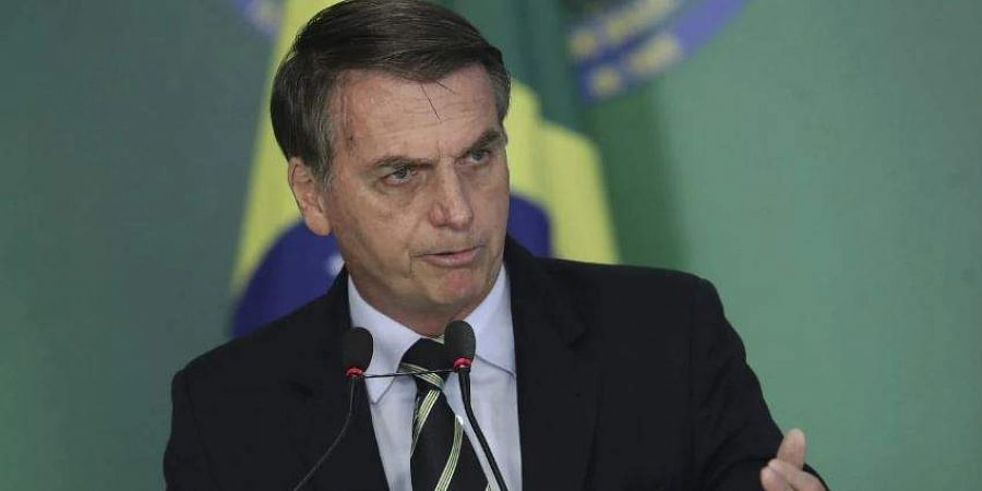 Brazil's President Bolsonaro shares lewd video, sparking outrage