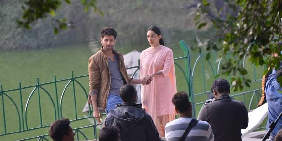 Shahid Kapoor and Kiara Advani during Kabir Singh shooting.