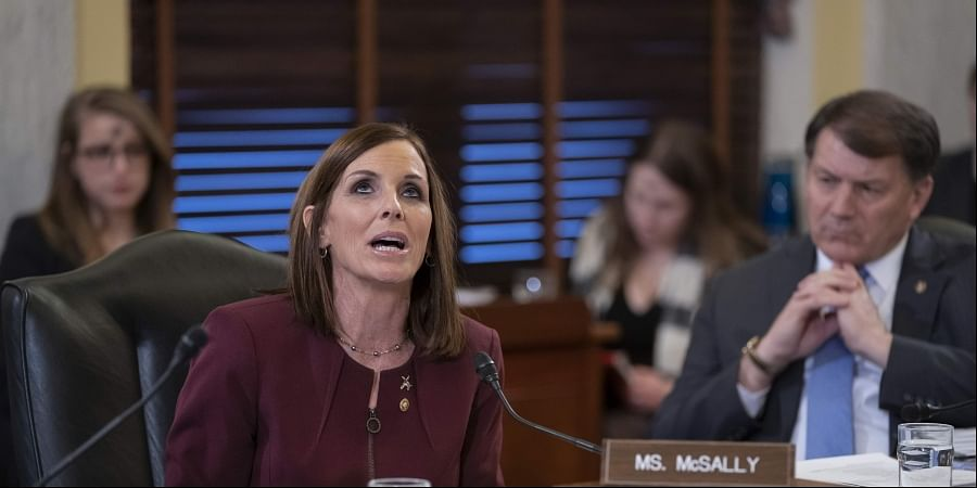 During a hearing by the Senate Armed Services Subcommittee on Personnel about prevention and response to sexual assault in the military, Sen. Martha McSally, R-Ariz., recounts her own experience while serving as a colonel in the Air Force, on Capitol Hill