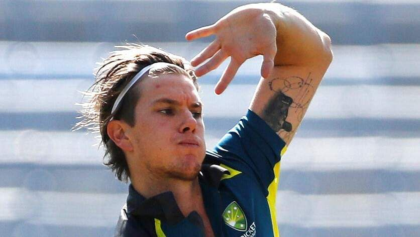 Australia's Adam Zampa bowls in the nets during a training session ahead of their third ODI match against India in Ranchi. | AP