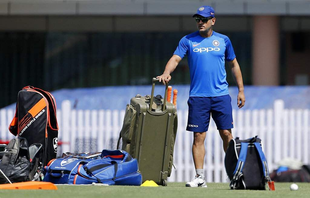 India's Mahendra Singh Dhoni arrives to attend a training session ahead of their third ODI match against Australia in Ranchi.