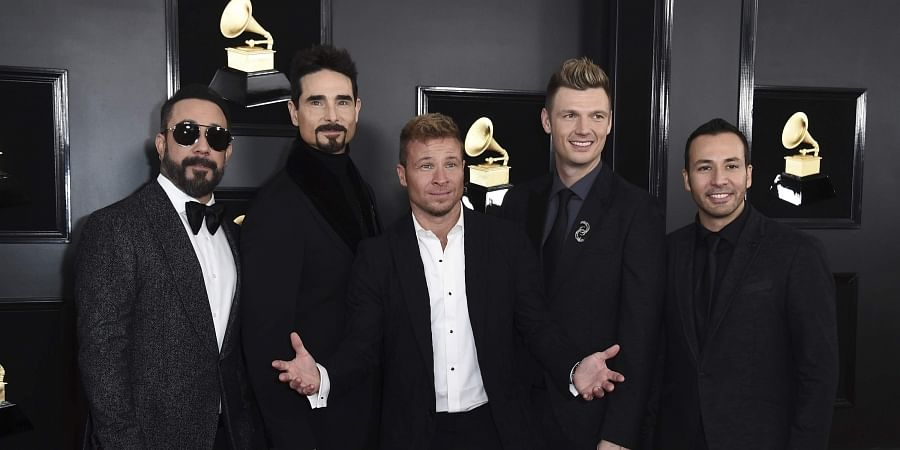 AJ McLean, from left, Kevin Richardson, Brian Littrell, Nick Carter, and Howie Dorough of The Backstreet Boys.
