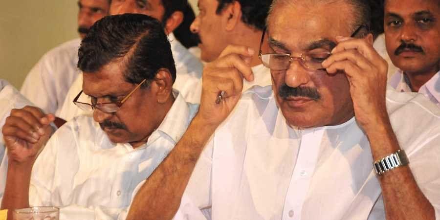 Kerala Congress leaders PJ Joseph (L) and KM Mani (File Photo   Rajeev Prasad/EPS)