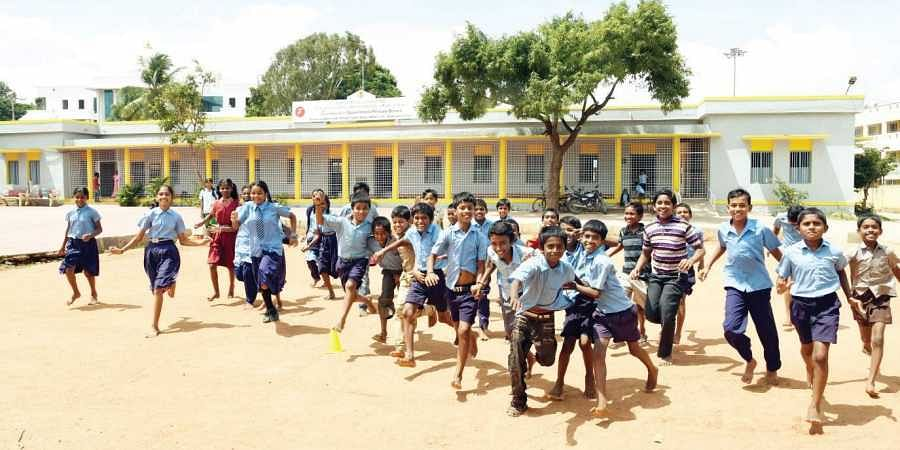 Karnataka schools lack playgrounds.