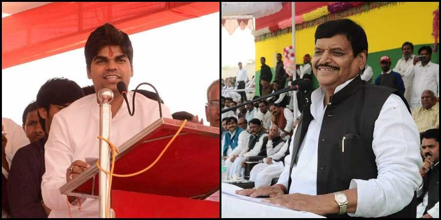 (L-R): Akshay Yadav and uncle Shivpal Singh Yadav. (Photos   Facebook)