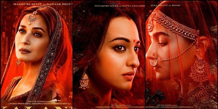 L-R: Actresses Madhuri Dixit, Sonakshi Sinha and Alia Bhatt.