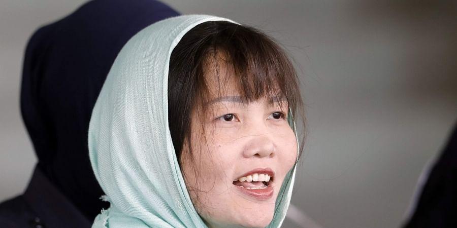 Vietnamese Doan Thi Huong leaves Shah Alam High Court in Shah Alam, Malaysia. (Photo   AP)