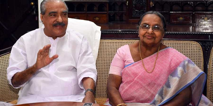 Late Kerala Congress(M) leader KM Mani while celebrating his 84th birthday in January 2017