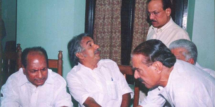 Oommen Chandy with AK Antony, Kanhalikutty and KM Mani