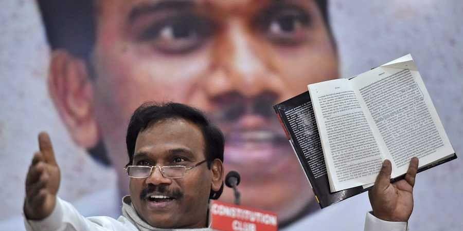Former telecom minister and DMK candidate for Nilgiris A Raja