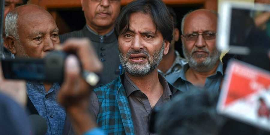Image result for NIA arrests JKLF chief Yasin Malik in connection with terror funding case