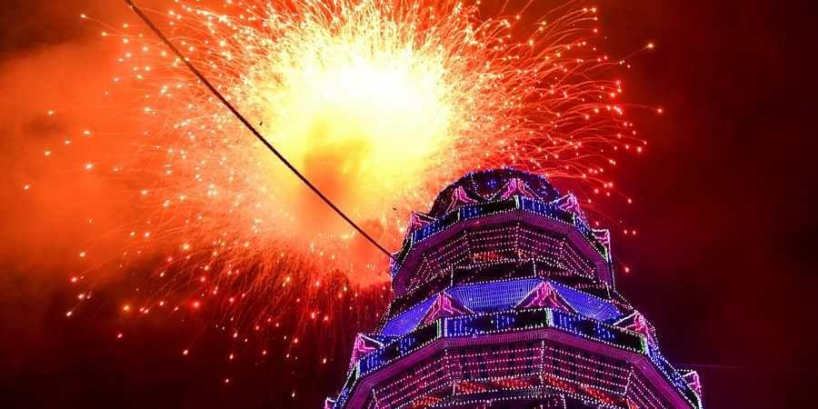 Thrissur pooram fireworks