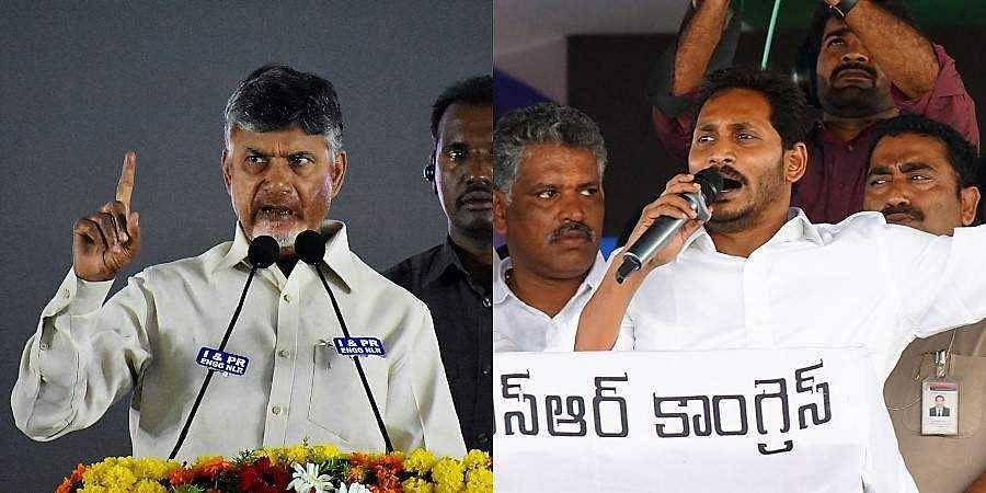 TDP chief Chandrababu Naidu and YSRCP president YS Jagan Mohan Reddy