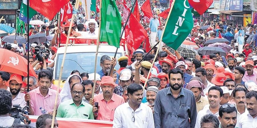 LDF election rally held at Kalpetta in Wayanad on Thursday