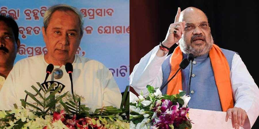Odisha CM Naveen Patnaik and BJP chief Amit Shah