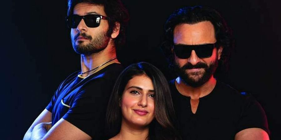 Saif Ali Khan, Fatima Sana Shaikh, and Ali Fazal in Bhoot Police.