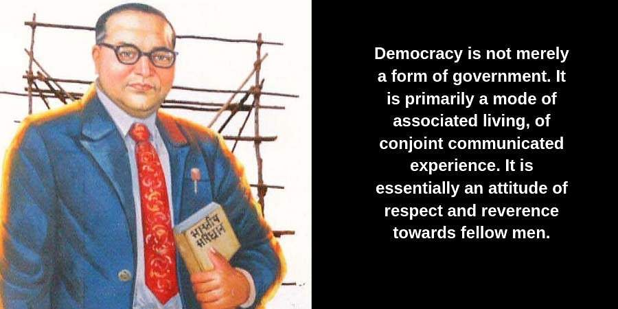 Democracy is not merely a form of government. It is primarily a mode of associated living, of conjoint communicated experience. It is essentially an attitude of respect and reverence towards fellow men.