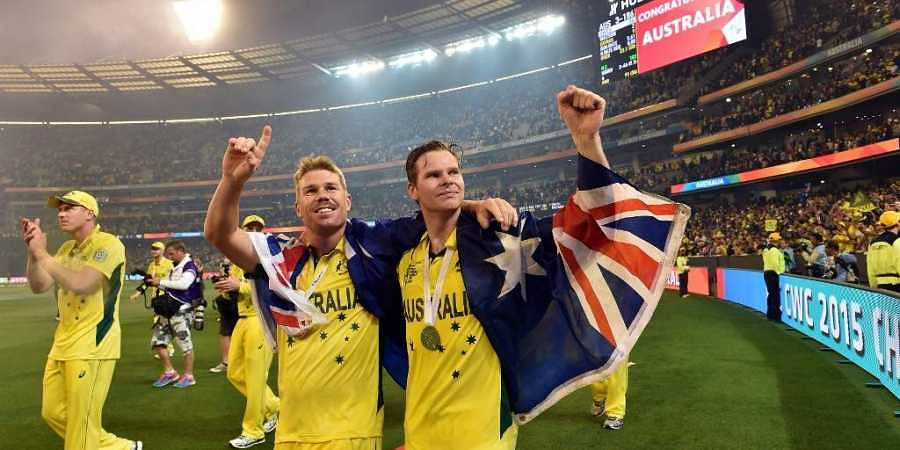 Australia's player Steve Smith (R) and David Warner. (File   AFP)
